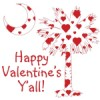 Buy Happy Valentine's Y'all Red Heart Palmeto Moon T-Shirts, Apparel, and Gifts